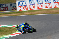 MUGELLO - ITALY, June 3: Italian Suzuki Ecstar rider Andrea Iannone at 2017 MotoGP GP of Italy at Mugello Circuit on JUNE 3, 2017 Royalty Free Stock Image