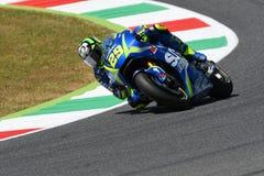 MUGELLO - ITALY, June 3: Italian Suzuki Ecstar rider Andrea Iannone at 2017 MotoGP GP of Italy at Mugello Circuit on JUNE 3, 2017 Stock Photos