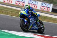 MUGELLO - ITALY, June 3: Italian Suzuki Ecstar rider Andrea Iannone at 2017 MotoGP GP of Italy at Mugello Circuit on JUNE 3, 2017 Royalty Free Stock Photo