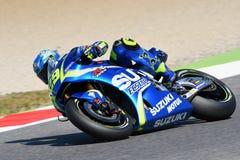 MUGELLO - ITALY, June 3: Italian Suzuki Ecstar rider Andrea Iannone at 2017 MotoGP GP of Italy at Mugello Circuit on JUNE 3, 2017 Stock Photography