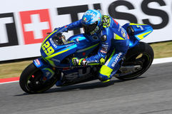 MUGELLO - ITALY, June 3: Italian Suzuki Ecstar rider Andrea Iannone at 2017 MotoGP GP of Italy at Mugello Circuit on JUNE 3, 2017 Royalty Free Stock Image