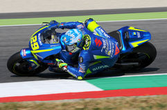 MUGELLO - ITALY, June 3: Italian Suzuki Ecstar rider Andrea Iannone at 2017 MotoGP GP of Italy at Mugello Circuit on JUNE 3, 2017 Stock Photo