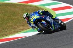 MUGELLO - ITALY, June 3: Italian Suzuki Ecstar rider Andrea Iannone at 2017 MotoGP GP of Italy at Mugello Circuit on JUNE 3, 2017 Stock Photo