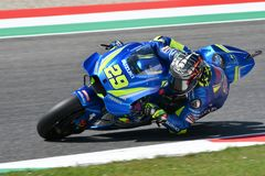 MUGELLO - ITALY, June: Italian Suzuki Ecstar Team rider Andrea Iannone during Qualifying session at 2018 GP of Italy of MotoGP on. June, 2018 in Italy Royalty Free Stock Photo