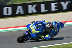 MUGELLO - ITALY, June: Italian Suzuki Ecstar Team rider Andrea Iannone during Qualifying session at 2018 GP of Italy of MotoGP on. June, 2018 in Italy Royalty Free Stock Photography