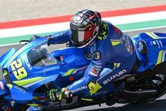 MUGELLO - ITALY, June: Italian Suzuki Ecstar Team rider Andrea Iannone during Qualifying session at 2018 GP of Italy of MotoGP on. June, 2018 in Italy Stock Images