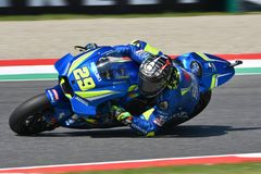 MUGELLO - ITALY, June: Italian Suzuki Ecstar Team rider Andrea Iannone during Qualifying session at 2018 GP of Italy of MotoGP on. June, 2018 in Italy Stock Photography
