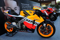 Mugello - Italy, June 1: Show of all Nicky Hayden`s MotoGP and SBK Bikes in the Paddock during GP of Italy on June 1, 2017. Stock Image