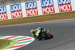 Mugello - ITALY, JUNE 3: Spanish Aprilia rider Aleix Espargaró at 2017 OAKLEY GP of Italy of MotoGP Mugello on JUNE 3, 2017 Stock Photography