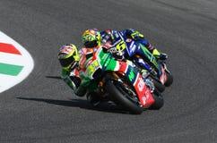 Mugello - ITALY, JUNE 3: Spanish Aprilia rider Aleix Espargaró at 2017 OAKLEY GP of Italy of MotoGP Mugello on JUNE 3, 2017 Stock Photo