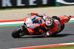 MUGELLO - ITALY, 1 JUNE 2018: Spanish Ducati Team rider Jorge Lorenzo during Qualifying session at 2018 GP of Italy of MotoGP. On June, 2018. Italy Royalty Free Stock Photos