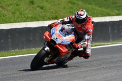 MUGELLO - ITALY, 1 JUNE 2018: Spanish Ducati Team rider Jorge Lorenzo during Qualifying session at 2018 GP of Italy of MotoGP. On June, 2018. Italy Stock Images