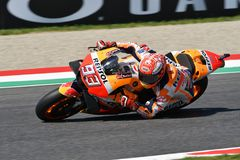 MUGELLO - ITALY, JUNE: Spanish Honda Repsol Team rider Marc Marquez during Qualifying session at 2018 GP of Italy of MotoGP. On June, 2018. Italy Royalty Free Stock Photo