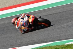 MUGELLO - ITALY, JUNE: Spanish Honda Repsol Team rider Marc Marquez during Qualifying session at 2018 GP of Italy of MotoGP. On June, 2018. Italy Stock Image