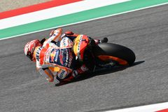 MUGELLO - ITALY, JUNE: Spanish Honda Repsol Team rider Marc Marquez during Qualifying session at 2018 GP of Italy of MotoGP. On June, 2018. Italy Royalty Free Stock Photos