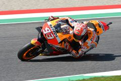 MUGELLO - ITALY, JUNE: Spanish Honda Repsol Team rider Marc Marquez during Qualifying session at 2018 GP of Italy of MotoGP. On June, 2018. Italy Stock Images