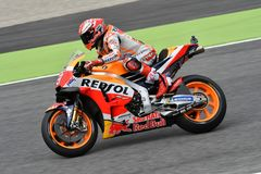 MUGELLO - ITALY, JUNE: Spanish Honda Repsol Team rider Marc Marquez during Qualifying session at 2018 GP of Italy of MotoGP. On June, 2018. Italy Royalty Free Stock Image