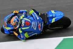 MUGELLO - ITALY, 2 JUNE: Spanish Suzuki Ecstar Team rider Alex Rins during Qualifying session at 2018 GP of Italy of MotoGP on Jun. E, 2018 in Italy stock photo