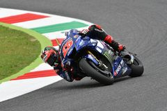 MUGELLO - ITALY, 2 JUNE: Spanish Yamaha Movistar Team rider Maverick Vinales during Qualifying session at 2018 GP of Italy. Of MotoGP on June, 2018. Italy Stock Photo