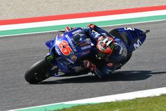 MUGELLO - ITALY, 2 JUNE: Spanish Yamaha Movistar Team rider Maverick Vinales during Qualifying session at 2018 GP of Italy. Of MotoGP on June, 2018. Italy Stock Photos