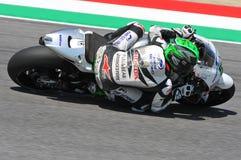 Mugello - ITALY, MAY 29: Irish Ducati rider Eugene Laverty at 2015 TIM GP of MotoGP at Mugello Circuit. On May 29, 2015 Royalty Free Stock Photo