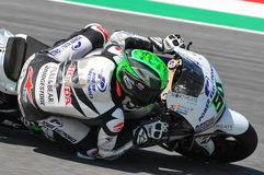 Mugello - ITALY, MAY 29: Irish Ducati rider Eugene Laverty at 2015 TIM GP of MotoGP at Mugello Circuit. On May 29, 2015 Stock Photo