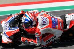 MUGELLO - ITALY, MAY 21: Italian Ducati rider Andrea Dovizioso at 2016 TIM MotoGP of Italy Stock Image
