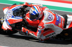 MUGELLO - ITALY, MAY 21: Italian Ducati rider Andrea Dovizioso at 2016 TIM MotoGP of Italy Stock Photography