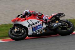 MUGELLO - ITALY, MAY 21: Italian Ducati rider Andrea Dovizioso at 2016 TIM MotoGP of Italy Stock Photos
