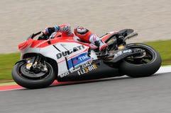 MUGELLO - ITALY, MAY 21: Italian Ducati rider Andrea Dovizioso at 2016 TIM MotoGP of Italy Royalty Free Stock Photography