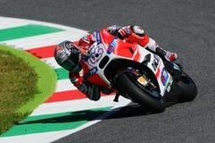 MUGELLO - ITALY, MAY 29: Italian Ducati rider Andrea Dovizioso at 2015 TIM MotoGP of Italy. Royalty Free Stock Images