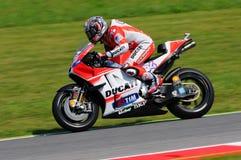 MUGELLO - ITALY, MAY 29: Italian Ducati rider Andrea Dovizioso at 2015 TIM MotoGP of Italy. Stock Photography