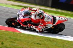 MUGELLO - ITALY, MAY 29: Italian Ducati rider Andrea Dovizioso at 2015 TIM MotoGP of Italy. Stock Images