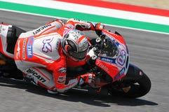 MUGELLO - ITALY, MAY 29: Italian Ducati rider Andrea Dovizioso at 2015 TIM MotoGP of Italy. Stock Photo