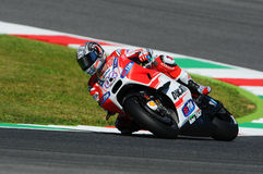 MUGELLO - ITALY, MAY 29: Italian Ducati rider Andrea Dovizioso at 2015 TIM MotoGP of Italy. MUGELLO - ITALY, MAY 29: Italian Ducati rider Andrea Dovizioso at Stock Photography