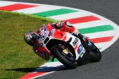 MUGELLO - ITALY, MAY 29: Italian Ducati rider Andrea Dovizioso at 2015 TIM MotoGP of Italy. Stock Photos