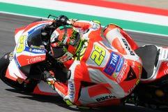 MUGELLO - ITALY, MAY 21: Italian Ducati rider Andrea Iannone at 2016 TIM MotoGP of Italy at Mugello circuit Royalty Free Stock Photography