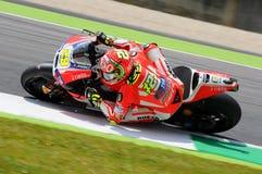 MUGELLO - ITALY, MAY 29: Italian Ducati rider Andrea Iannone at 2015 TIM MotoGP of Italy at Mugello circuit. Royalty Free Stock Photography