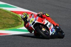 MUGELLO - ITALY, MAY 29: Italian Ducati rider Andrea Iannone at 2015 TIM MotoGP of Italy at Mugello circuit. Stock Image