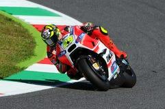 MUGELLO - ITALY, MAY 29: Italian Ducati rider Andrea Iannone at 2015 TIM MotoGP of Italy at Mugello circuit. Stock Images
