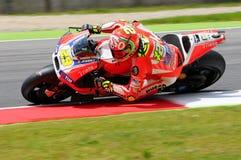 MUGELLO - ITALY, MAY 29: Italian Ducati rider Andrea Iannone at 2015 TIM MotoGP of Italy at Mugello circuit. Stock Photos