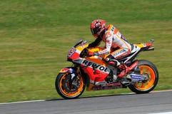 Mugello - ITALY, MAY 21 - 2016: Spanish Honda rider Marc Marquez at 2016 TIM GP Italy MotoGP of Italy at Mugello Circuit Royalty Free Stock Photos