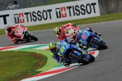 MUGELLO - ITALY, MAY 21: Spanish Suzuki rider Aleix Espargaro at 2016 TIM MotoGP of Italy at Mugello circuit Stock Photo
