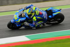 MUGELLO - ITALY, MAY 21: Spanish Suzuki rider Aleix Espargaro at 2016 TIM MotoGP of Italy at Mugello circuit Royalty Free Stock Images