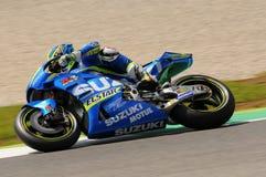 MUGELLO - ITALY, MAY 21: Spanish Suzuki rider Aleix Espargaro at 2016 TIM MotoGP of Italy at Mugello circuit Royalty Free Stock Photos