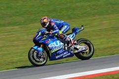 MUGELLO - ITALY, MAY 21: Spanish Suzuki rider Maverick Vinales at 2016 TIM MotoGP of Italy at Mugello circuit Royalty Free Stock Photos