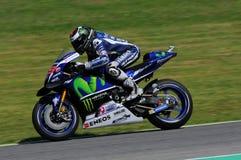 MUGELLO - ITALY, MAY 21: Spanish Yamaha rider Jorge Lorenzo wins the 2016 TIM MotoGP of Italy at Mugello circuit Royalty Free Stock Images