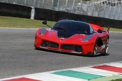 MUGELLO, ITALY - OCTOBER 26, 2017: Ferrari FXX-K during Finali Mondiali Ferrrari 2017 - XX Programmes in Mugello Circuit Stock Photography