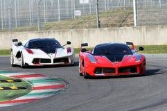 MUGELLO, ITALY - OCTOBER 26, 2017: Ferrari FXX-K during Finali Mondiali Ferrrari 2017 - XX Programmes in Mugello Circuit Royalty Free Stock Photos