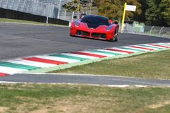 MUGELLO, ITALY - OCTOBER 26, 2017: Ferrari FXX-K during Finali Mondiali Ferrrari 2017 - XX Programmes in Mugello Circuit Stock Images